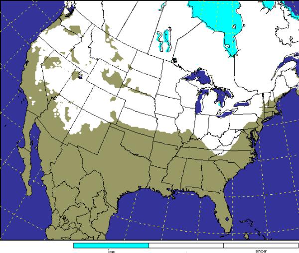 U.S. Snow Cover | The Alabama Weather Blog - Mobile